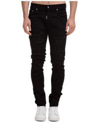 Represent Men's Jeans Denim Shredded - Black