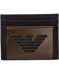 Emporio Armani Porta carte di credito portafoglio uomo - Nero