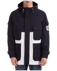 Emporio Armani Men's Coat Overcoat - Blue