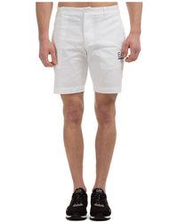 EA7 Men's Shorts Bermuda - White