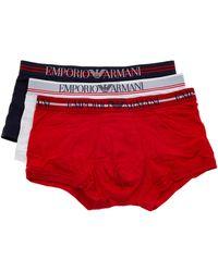 Emporio Armani Intimo boxer uomo 3 pack - Rosso