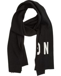 DSquared² Men's Wool Scarf Icon - Black