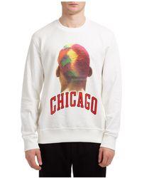ih nom uh nit Men's Sweatshirt Sweat Chicago Player - White