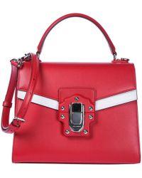 Dolce & Gabbana Borsa donna a mano shopping in pelle lucia - Rosso
