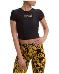 Versace Jeans Couture Top maniche corte - Nero