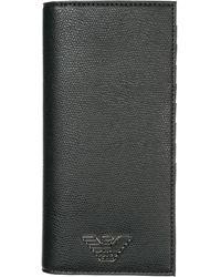 Emporio Armani Portafoglio portamonete uomo bifold - Nero