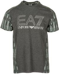 EA7 Short Sleeve T-shirt Crew Neckline Jumper - Grey