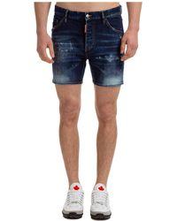 DSquared² Men's Shorts Bermuda - Blue