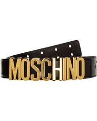 Moschino Women's Genuine Leather Belt - Black