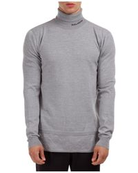 Balmain Men's Polo Neck Turtleneck Sweater Sweater - Gray