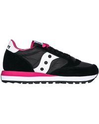 Saucony Women's Shoes Suede Sneakers Sneakers Jazz O - Black