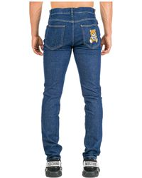 Moschino Jeans uomo teddy bear slim fit - Blu