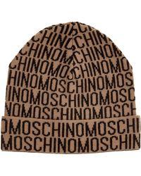 Moschino Cuffia berretto uomo in lana - Neutro