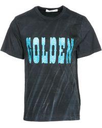 Golden Goose Deluxe Brand Men's Short Sleeve T-shirt Crew Neckline Sweater Edward - Multicolor