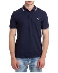 Fred Perry Polo t-shirt maglia maniche corte uomo - Blu