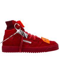 Off-White c/o Virgil Abloh Scarpe sneakers alte uomo 3.0 off court - Rosso
