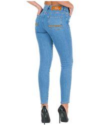 Gcds Women's Slim Fit Skinny Jeans - Blue
