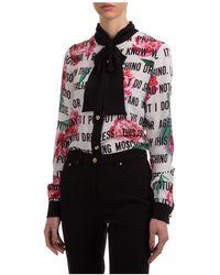 Moschino Women's Shirt Long Sleeve Blouse - Multicolour