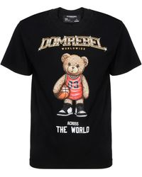 DOMREBEL Short Sleeve T-shirt Crew Neckline Sweater - Black