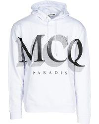 McQ Felpa con cappuccio uomo paradise - Bianco