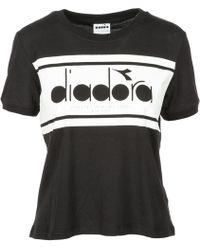 Diadora - T-shirt Short Sleeve Crew Neck Round - Lyst
