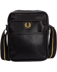 Fred Perry Men's Cross-body Messenger Shoulder Bag - Black