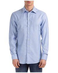 Emporio Armani Men's Long Sleeve Shirt Dress Shirt Modern Fit - Blue