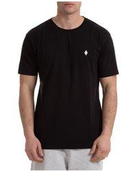 Marcelo Burlon Men's Short Sleeve T-shirt Crew Neckline Sweater Cross - Black