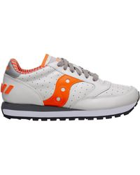 Saucony Men's Shoes Leather Trainers Trainers Jazz Original - White