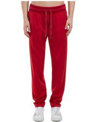 Dolce & Gabbana Men's Sport Tracksuit Pants - Red