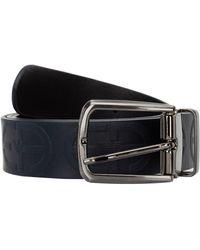 Emporio Armani Men's Genuine Leather Belt - Black