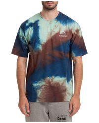 Mauna Kea Short Sleeve T-shirt Crew Neckline Jumper - Blue