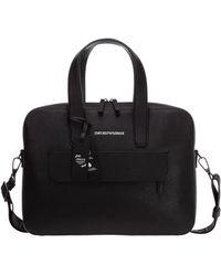 Emporio Armani Briefcase Attaché Case Laptop Pc Bag - Black