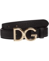 Dolce & Gabbana Women's Genuine Leather Belt - Black