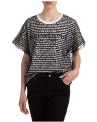 Philosophy Di Lorenzo Serafini Women's T-shirt Short Sleeve Crew Neck Round - Black