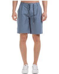 Emporio Armani Men's Shorts Bermuda - Blue