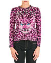 Alberta Ferretti Women's Sweater Sweater Crew Neck Round Love Me Wild - Multicolor