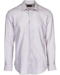 Emporio Armani Men's Long Sleeve Shirt Dress Shirt Slim Fit - Multicolor