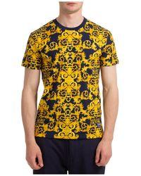 Versace Jeans Couture - Men's Short Sleeve T-shirt Crew Neckline Jumper Baroque - Lyst