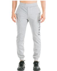 Versace Men's Sport Tracksuit Pants - Grey