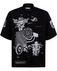 Givenchy Men's Short Sleeve Shirt T-shirt Schematics - Black