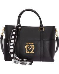 Love Moschino Borsa donna a mano shopping - Nero