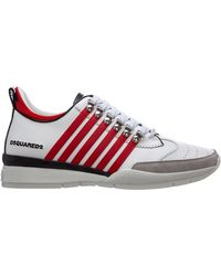 DSquared² Men's Shoes Leather Trainers Trainers 251 - White