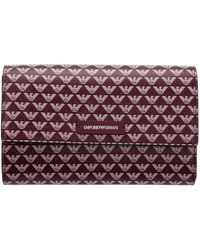 Emporio Armani Women's Wallet Coin Case Holder Purse Card - Purple