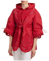 RED Valentino Women's Outerwear Jacket Blouson Hood - Red
