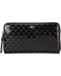 Emporio Armani Women's Wallet Coin Case Holder Purse Card Bifold - Black