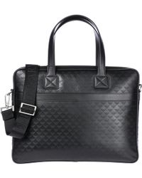 Emporio Armani - Briefcase Attaché Case Laptop Pc Bag Leather - Lyst