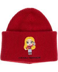 Chiara Ferragni Women's Beanie Hat Cfmascotte - Red