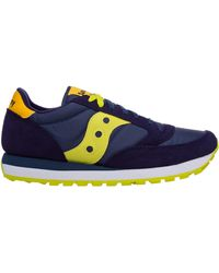 Saucony Men's Shoes Leather Sneakers Sneakers Jazz - Blue