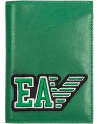 Emporio Armani Portadocumenti portafoglio viaggio passaporto uomo - Verde